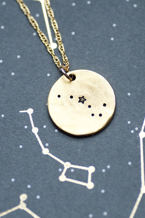Big Dipper Little Dipper Constellation Necklace Set by Olive Bella.