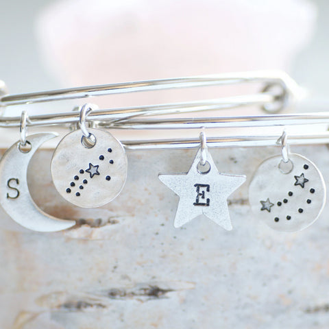Zodiac Charm Bracelet by Olive Bella.  Shop now: https://olivebella.com