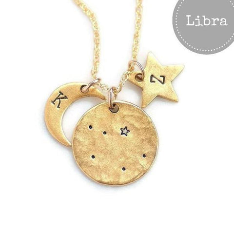 Libra Zodiac Necklace by Olive Bella.