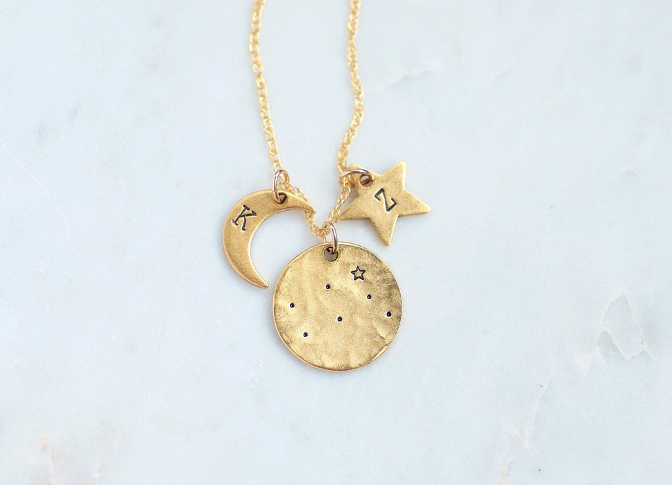 Gemini Zodiac Necklace by Olive Bella.  Shop now: https://olivebella.com