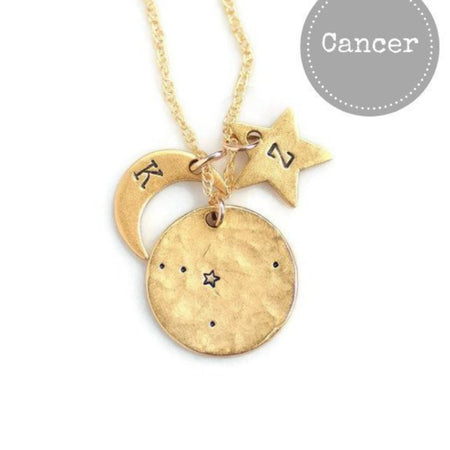 Cancer Zodiac Necklace by Olive Bella.  Shop now: https://olivebella.com