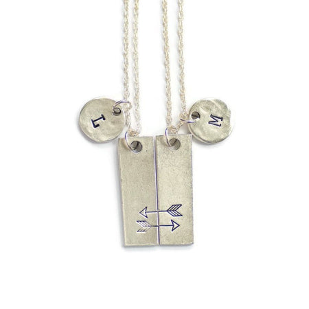 Silver Friendship Necklaces for 2 by Olive Bella.  Shop now: https://olivebella.com