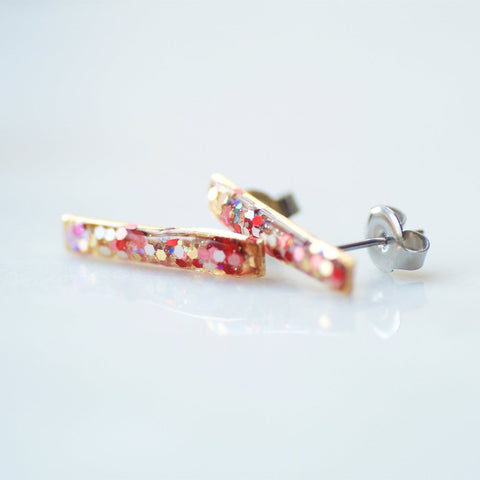 Confetti Bar Earrings by Olive Bella.  Shop now: https://olivebella.com