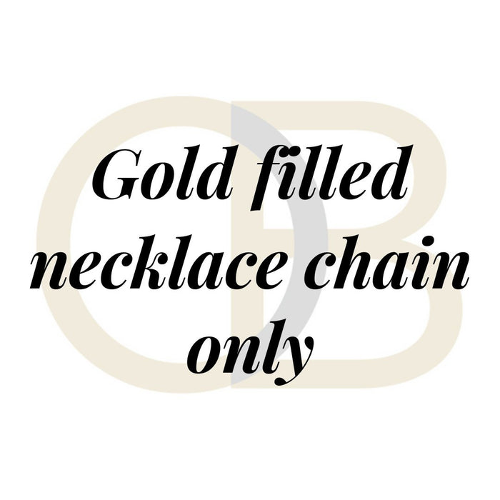 Gold Filled Necklace chain only - no charms