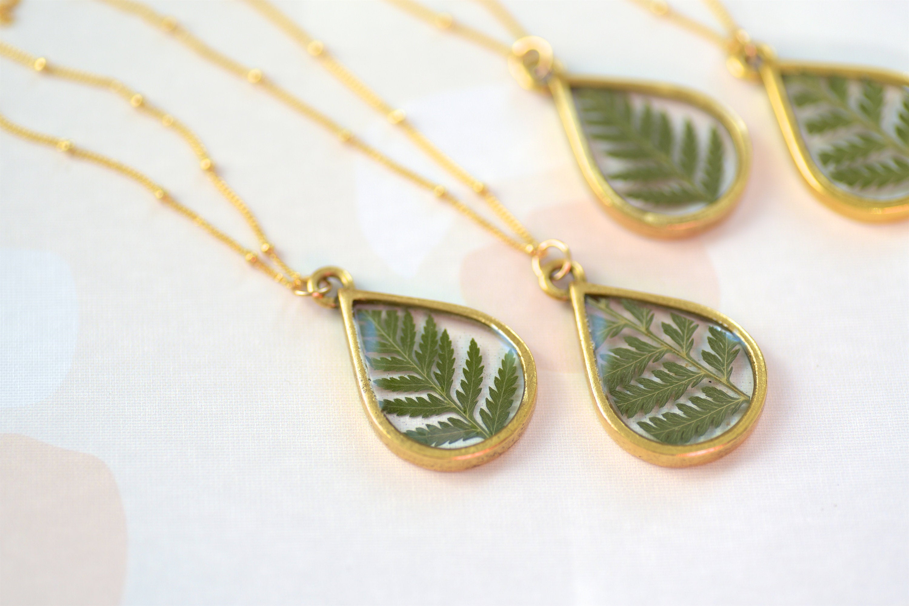 Real Fern Necklace