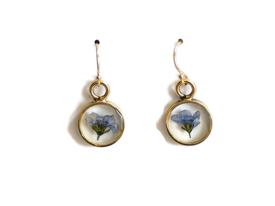 Forget Me Not Pressed Flower Earrings