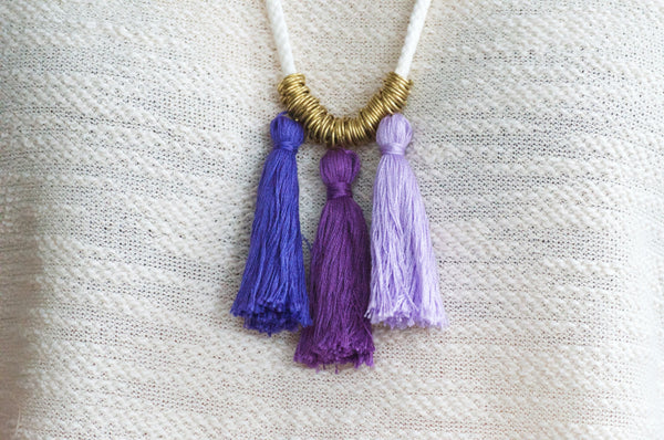 Ombre Tassel Rope Necklace