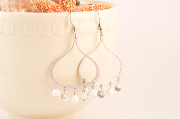 Howlite Beaded Earrings