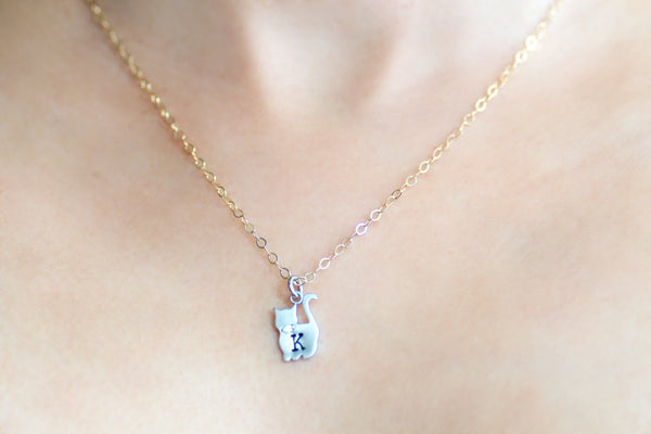 Personalized Cat Necklace