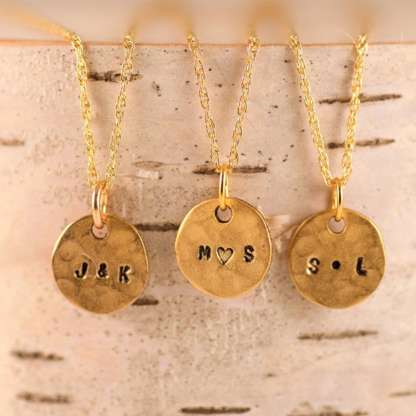 Couple initials necklace by Olive Bella.  Shop now: https://olivebella.com