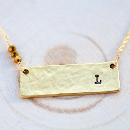 Personalized Initial Necklace by Olive Bella.  Shop now: https://olivebella.com