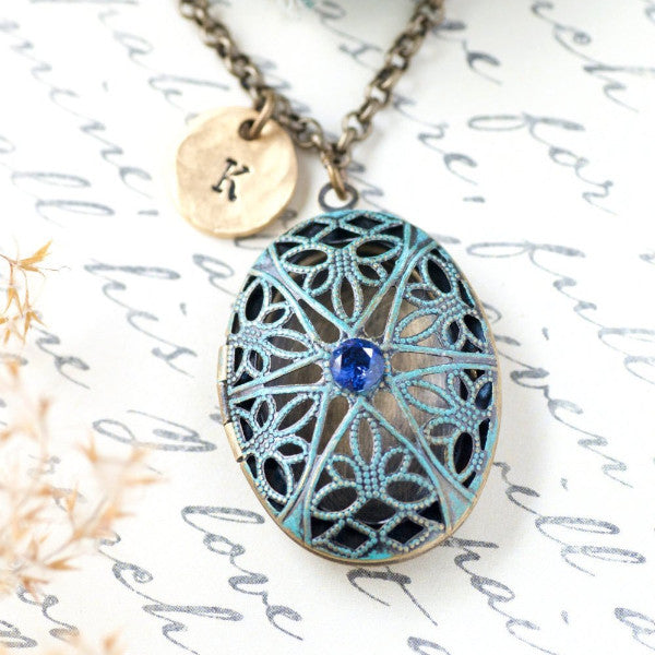 Locket Necklace by Olive Bella.  Shop now: https://olivebella.com