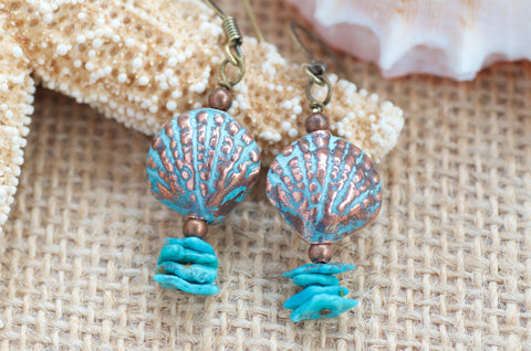 Sea Shell Turquoise Jewelry