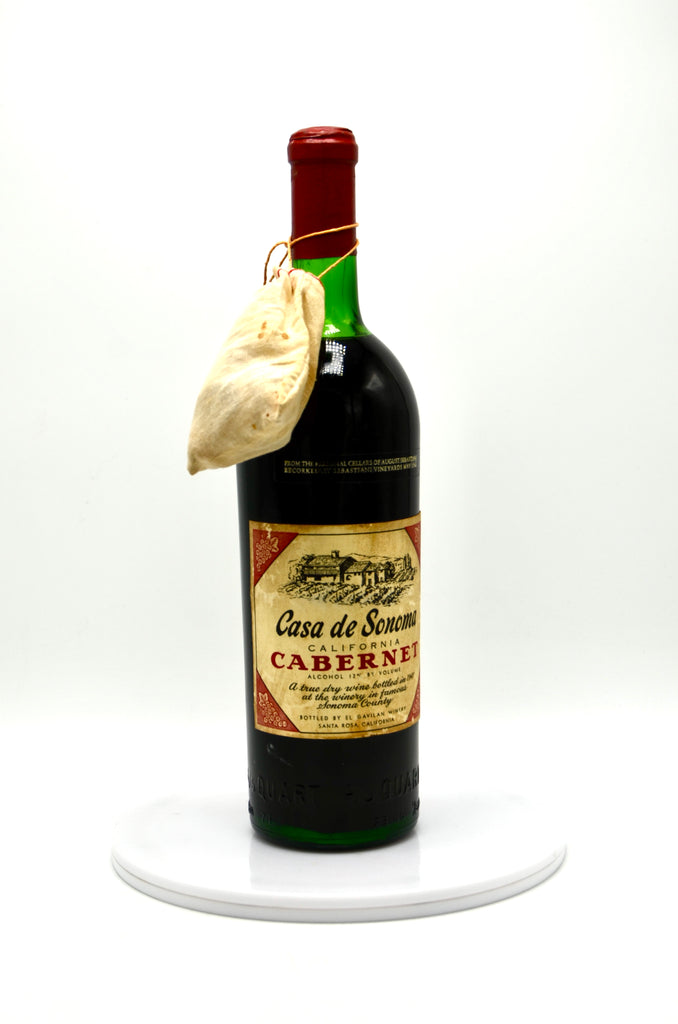 1941 Casa de Sonoma Cabernet Sauvignon [bottled in 1947 at El Gavilan Winery / re-corked at Sebastiani Vineyards in May 1982], Sonoma County