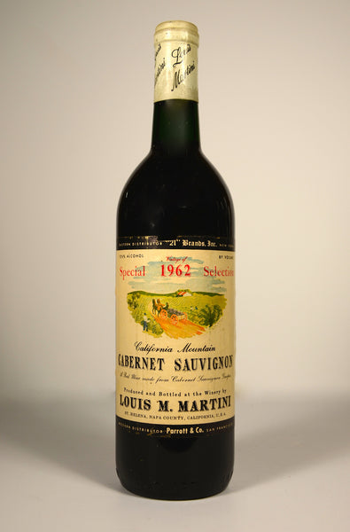 1962 Louis Martini Cabernet Sauvignon Special Selection