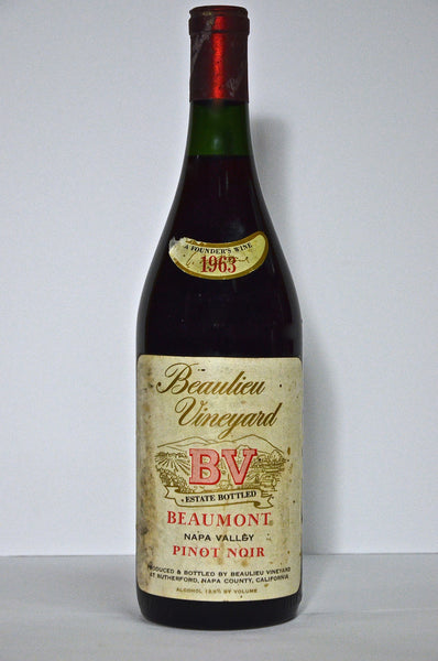 1963 Beaulieu Vineyard Beaumont Pinot Noir