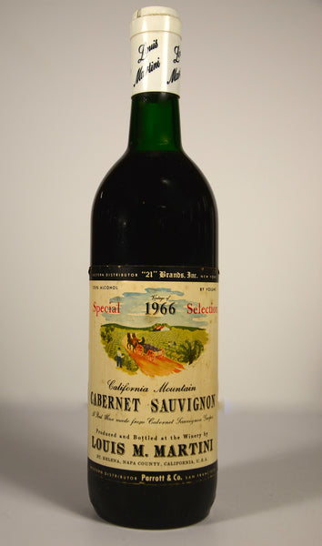 1966 Louis Martini Cabernet Sauvignon Special Selection