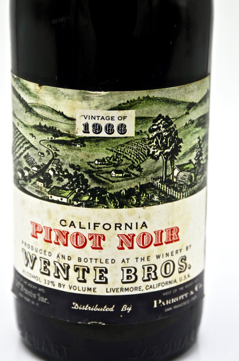 1966 Wente Vineyards Pinot Noir, Livermore