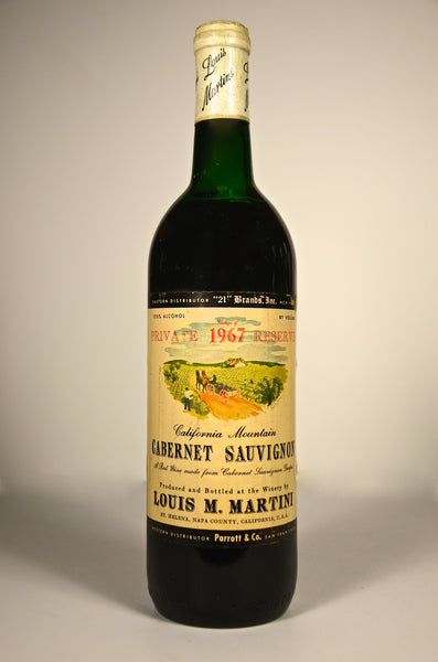 1967 Louis Martini Private Reserve Cabernet Sauvignon