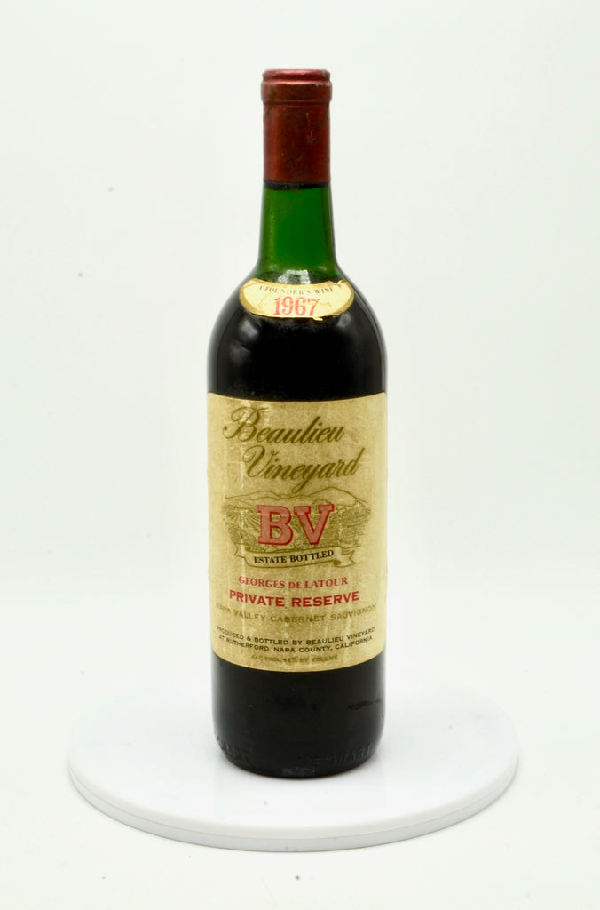 1967 Beaulieu Vineyard Georges de Latour Private Reserve Napa Valley