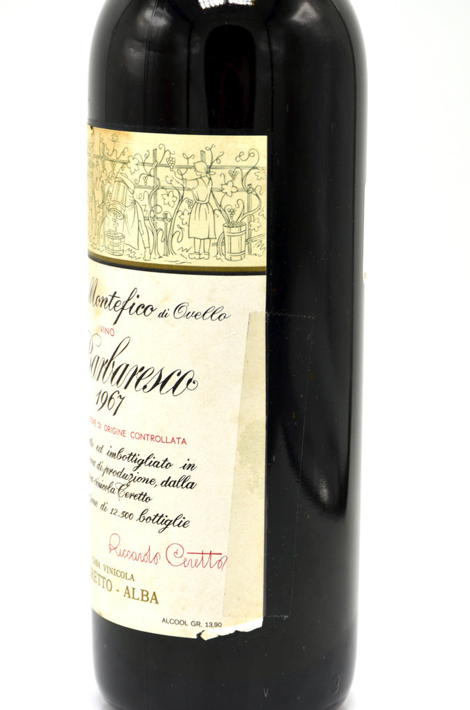 1967 Ceretto Barbaresco Montefico