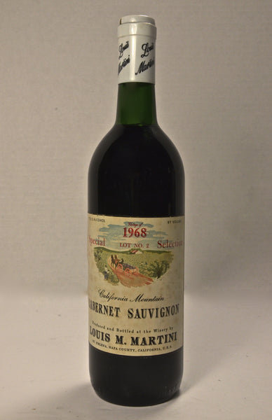 1968 Louis Martini Cabernet Sauvignon Special Selection Lot #2
