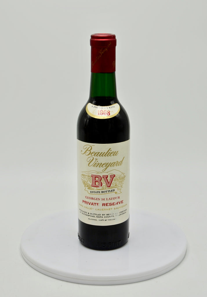 1968 Beaulieu Vineyard Georges de Latour, Private Reserve, Napa Valley Cabernet Sauvignon (half-bottle)