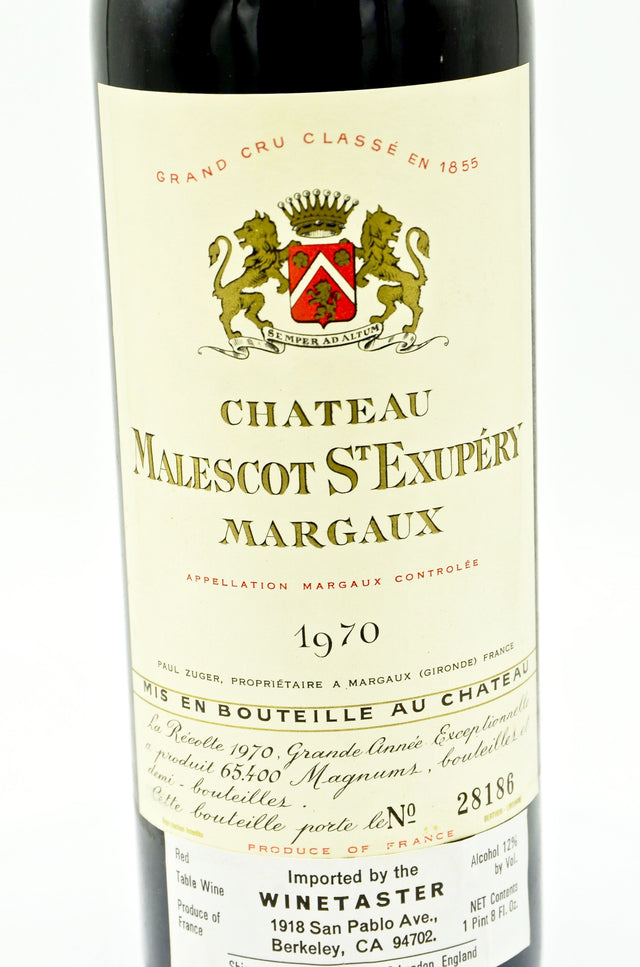 1970 Château Malescot, St. Exupery Margaux