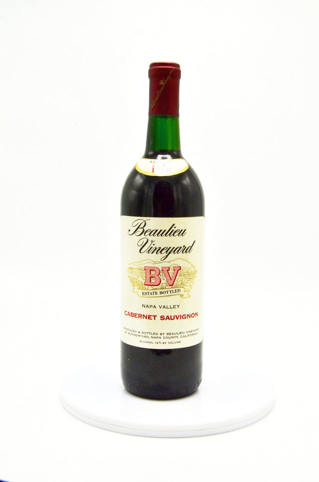 1970 Beaulieu Vineyard Cabernet Sauvignon Napa Valley