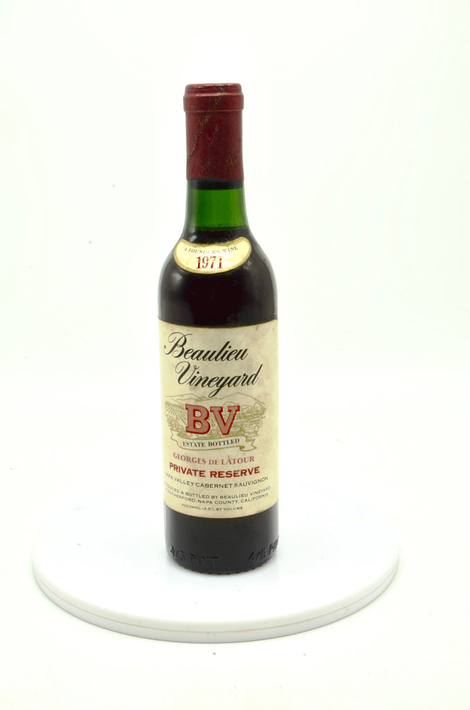 1971 Beaulieu Vineyard Georges de Latour, Private Reserve, Napa Valley (half-bottle)