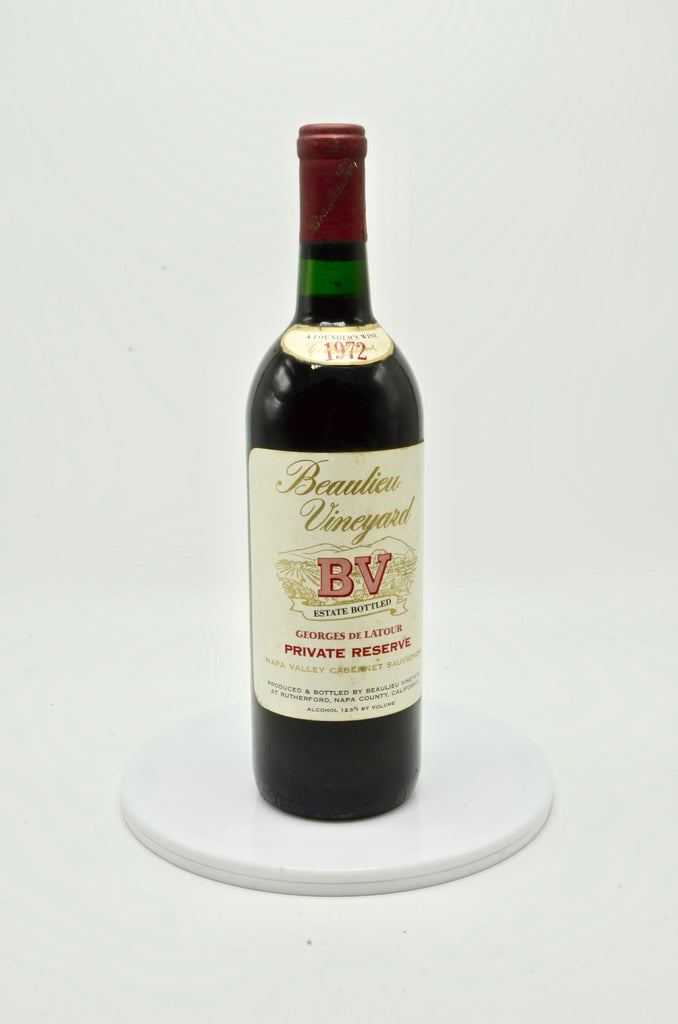 1972 Beaulieu Vineyard Georges de Latour, Private Reserve Cabernet Sauvignon