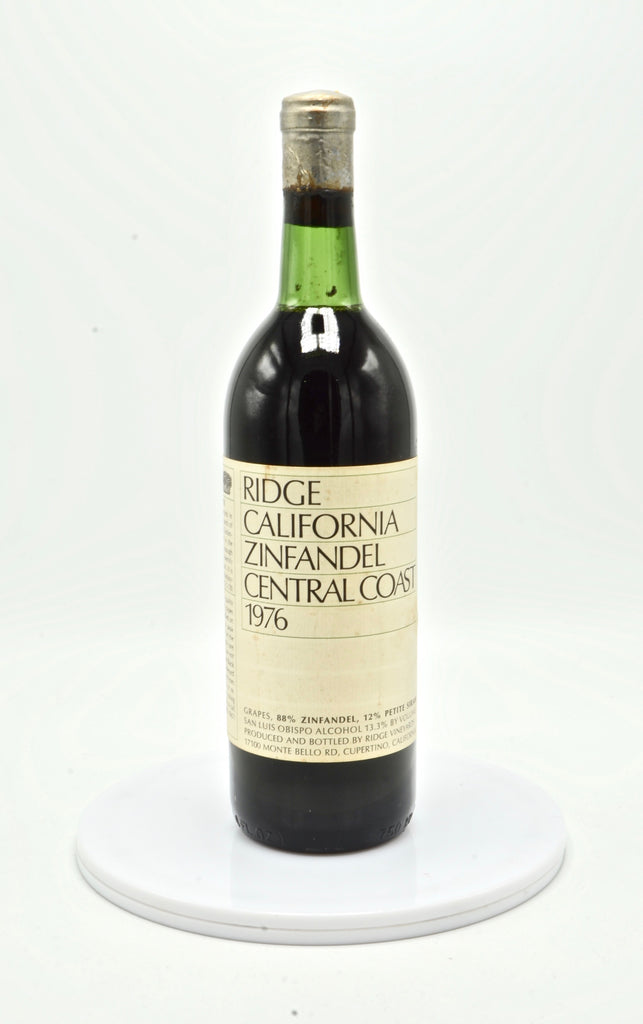 1976 Ridge Zinfandel, Central Coast