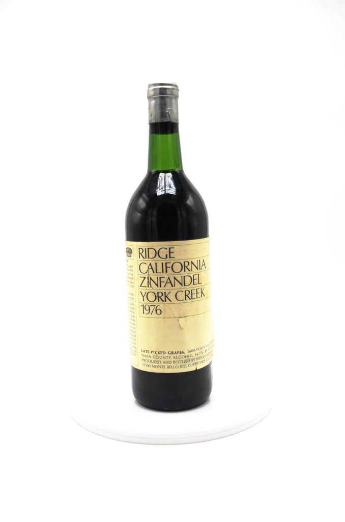 1976 Ridge Vineyards Zinfandel Late Picked Grapes, York Creek