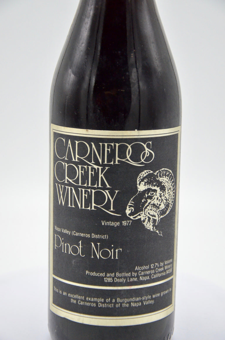 1977 Carneros Creek Pinot Noir, Napa Valley