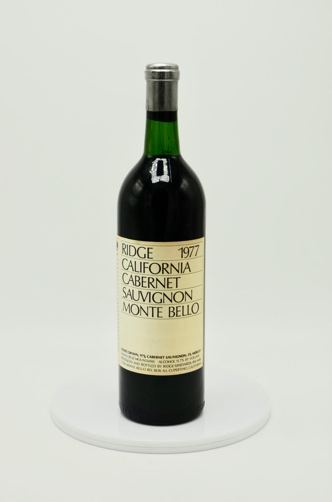 1977 Ridge Vineyards Ruby Cabernet Sauvignon, Monte Bello