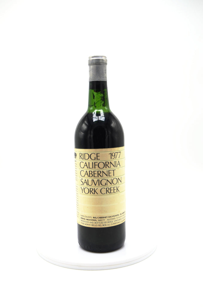 1977 Ridge Vineyards Cabernet Sauvignon, York Creek