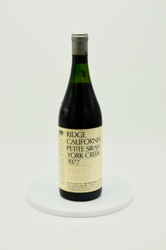 1977 Ridge Vineyards Petite Sirah, York Creek