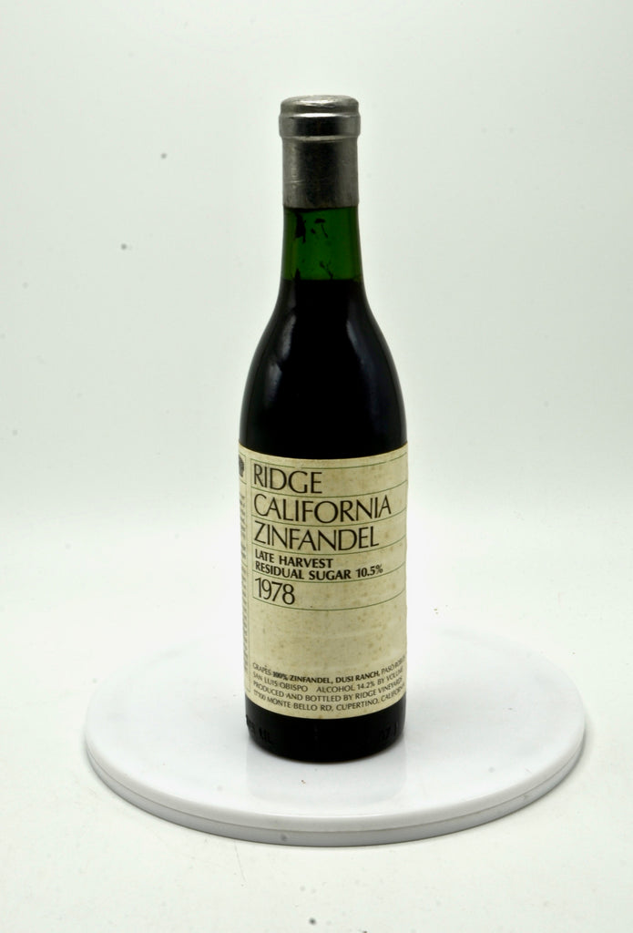 1978 Ridge Late Harvest Zinfandel (half-bottle)