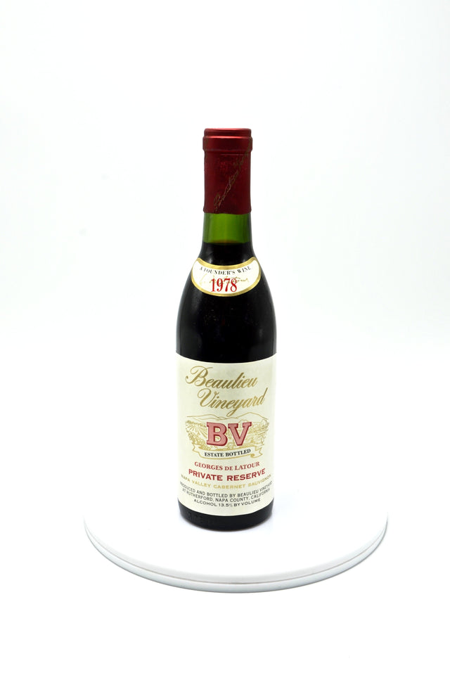 1978 Beaulieu Vineyard Georges de Latour Private Reserve, Napa Valley (half-bottle)