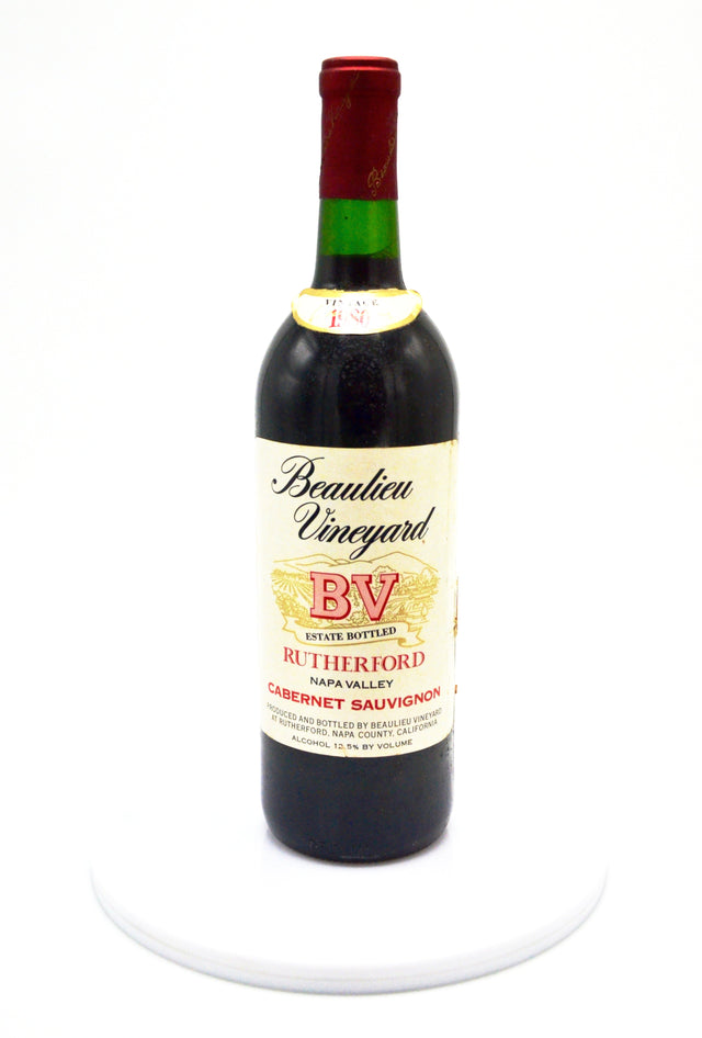 1980 Beaulieu Vineyard Rutherford Cabernet Sauvignon, Napa Valley