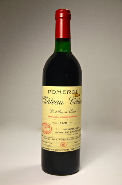 1981 Chateau Certan de May Pomerol