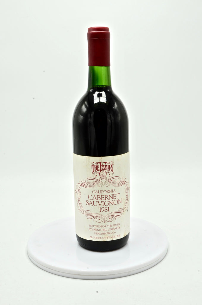 1981 Spring Hill Vineyards Cabernet Sauvignon