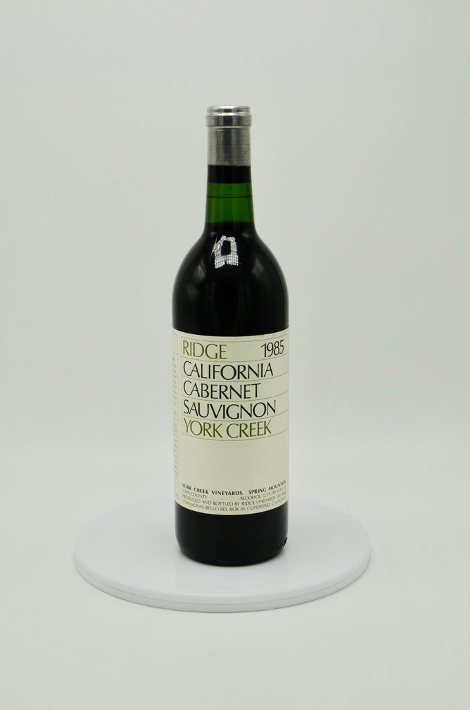 1985 Ridge Vineyards Cabernet Sauvignon, York Creek