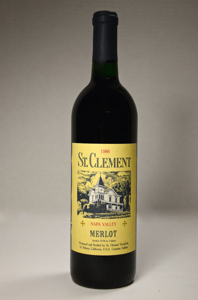 1986 St. Clement Merlot Napa Valley