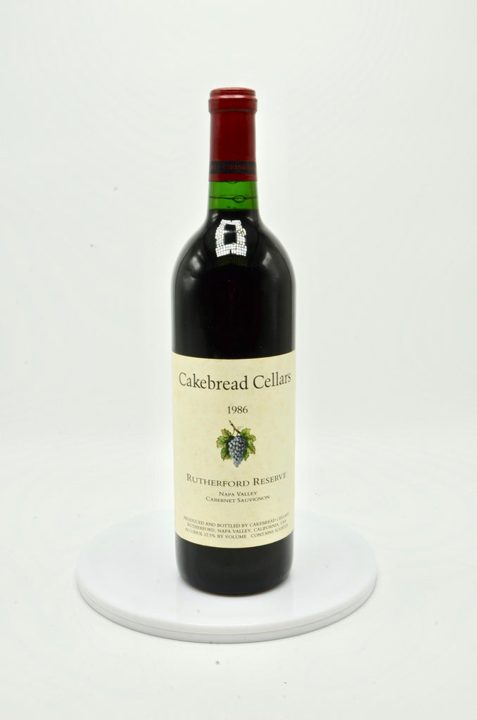 1986 Cakebread Cabernet Sauvignon, Rutherford Bench Reserve, Napa Valley