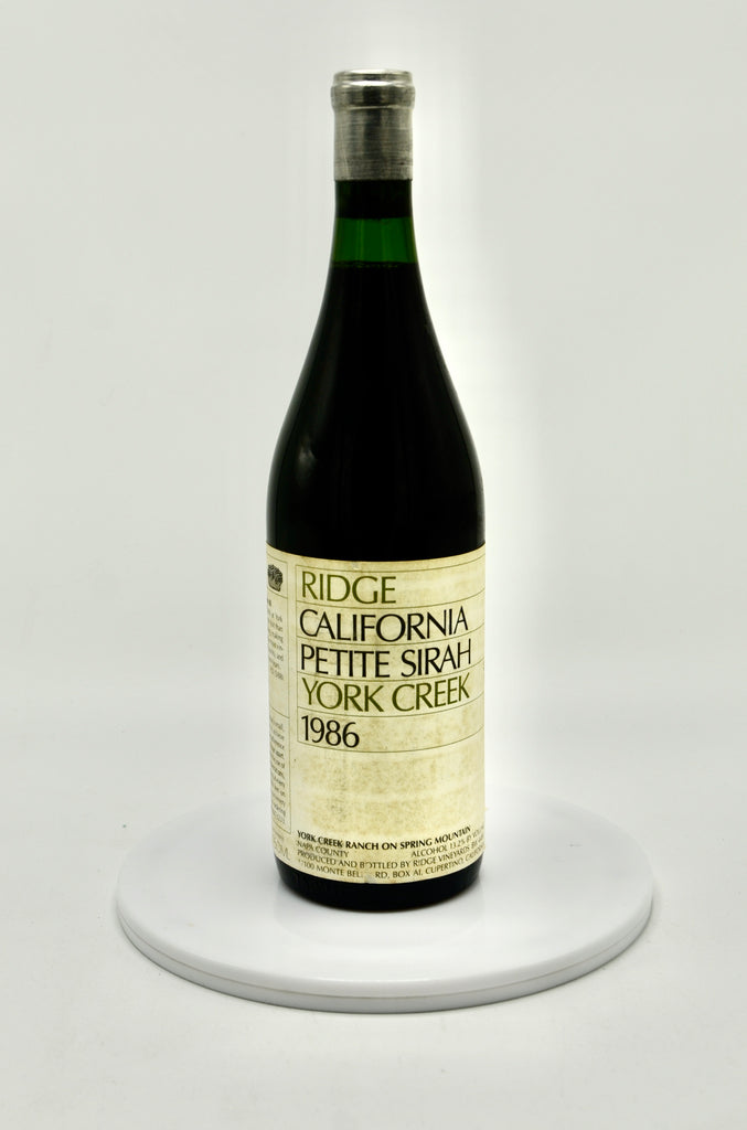 1986 Ridge Vineyards Petite Sirah, York Creek