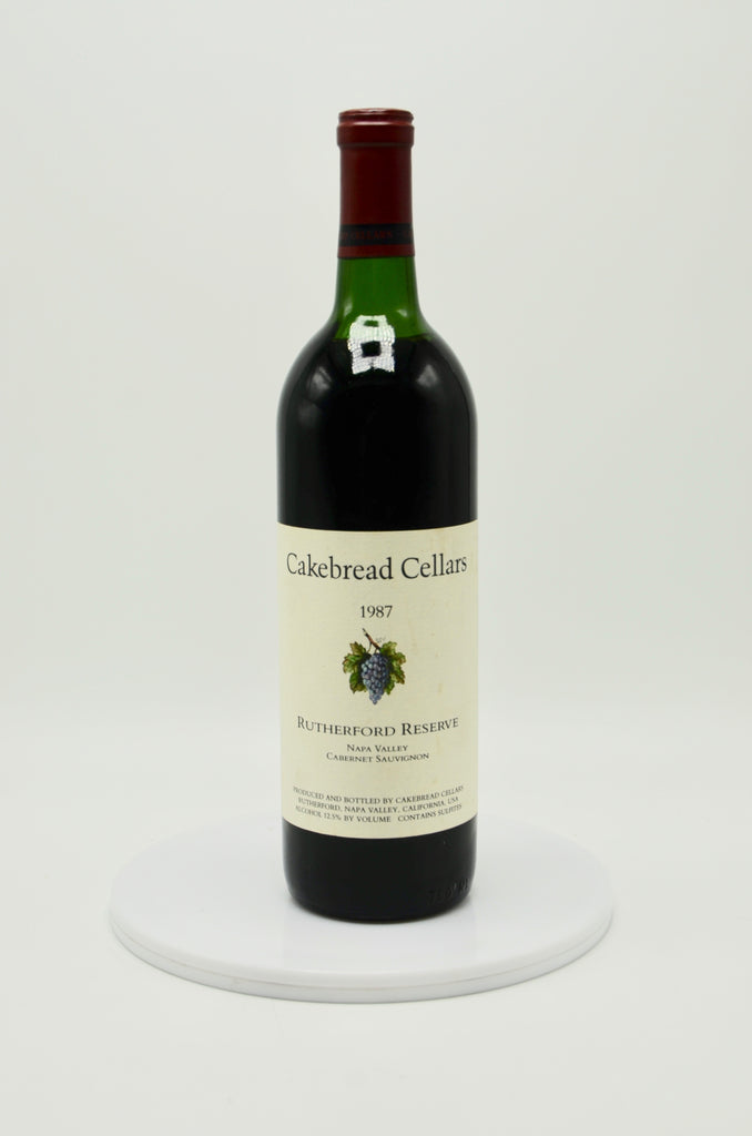 1987 Cakebread Cabernet Sauvignon, Rutherford Reserve, Napa Valley