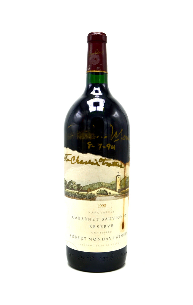 1990 Robert Mondavi Reserve Unfiltered Cabernet Sauvignon, Napa Valley (magnum) [Autographed by Winemaker]