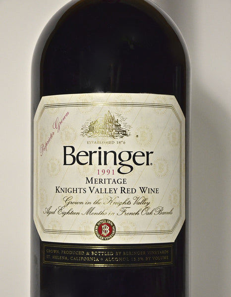 1991 Beringer Meritage Knights Valley Red Wine (double magnum)