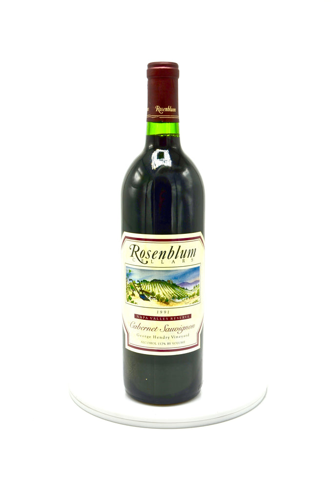 1991 Rosenblum Cellars Cabernet Sauvignon, George Hendry Vineyards